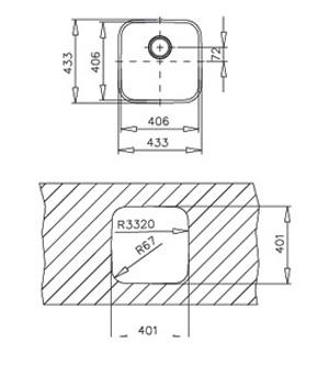 Be 40 40 Under Worktop Teka Sink Kitchen Products